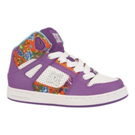 DC Girls' Rebound SE EL Preschool Skate Shoes - Purple/White