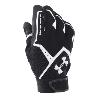 Under Armour Clean Up Batting Glove - Black/Black