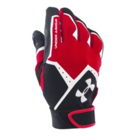 Under Armour Clean Up Batting Glove - Black/Red