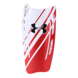 Under Armour One Touch Shin Guard - Red/White