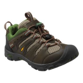 Keen Kids' Koven Low Hiking Shoes - Black/Olive