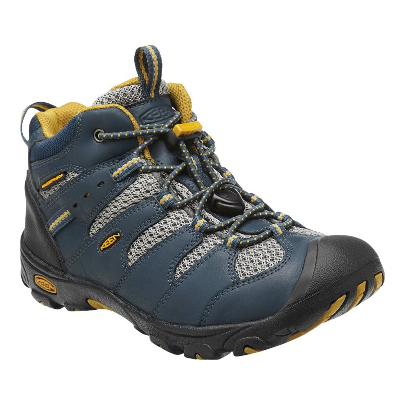 keen koven mid waterproof hiking shoes navy olive