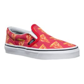 Vans Late Night Classic Slip-On Pizza Kids' Skate Shoes
