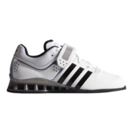 adidas Men's Adipower Weightlift Weightlifting Shoes - White/Black/Grey