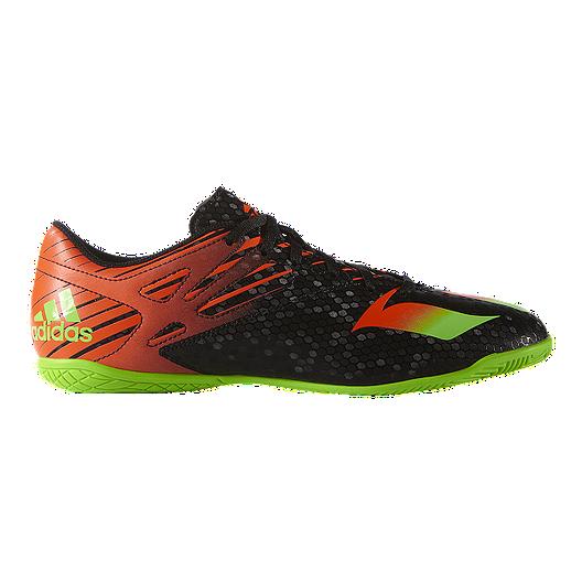 info for 7ed1b b46e8 adidas Men s Messi 15.4 Indoor Soccer Shoes - Black Orange Green   Sport  Chek