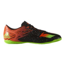 adidas Men's Messi 15.4 Indoor Soccer Shoes - Black/Orange/Green