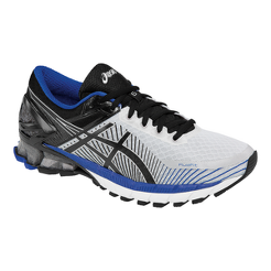 ASICS Men s Gel Kinsei 6 Running Shoes - White Black Blue  adede31a7cdd