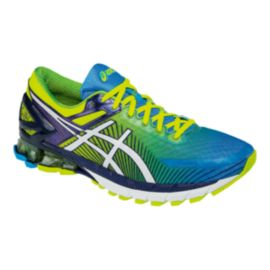 ASICS Men's Gel Kinsei 6 Running Shoes - Blue/Yellow