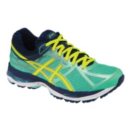 ASICS Women's Gel Cumulus 17 2A Narrow Width Running Shoes - Aqua Blue/Navy/Yellow