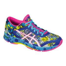 ASICS Women's Gel Noosa Tri 11 Running Shoes - Blue/Yellow Pattern/Pink