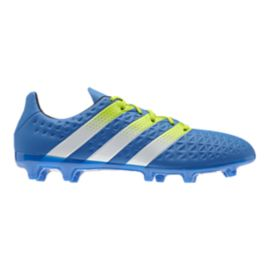 adidas Men's Ace 16.3 FG Outdoor Soccer Cleats - Blue/White