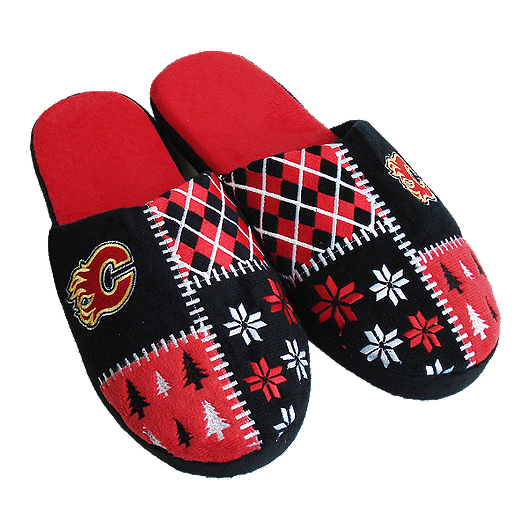 51e7619e0e96 Calgary Flames Ugly Slippers