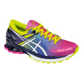 ASICS Women's Gel Kinsei 6 Running Shoes - Rainbow/Yellow Pattern/Purple