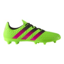 adidas Men's Ace 16.3 FG Outdoor Soccer Cleats - Green/Pink/Black