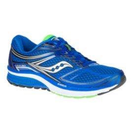 Saucony Men's EVERUN Guide 9 Wide Width Running Shoes - Blue/Silver