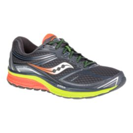 Saucony Men's EVERUN Guide 9 Running Shoes - Grey/Orange/Lime Green