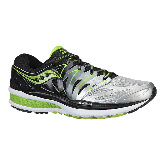 905b1a23 Saucony Men's Hurricane ISO 2 Running Shoes - Silver/Black/Lime Green