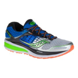Saucony Men's Triumph ISO 2 Wide Width Running Shoes - Blue/Green/Silver