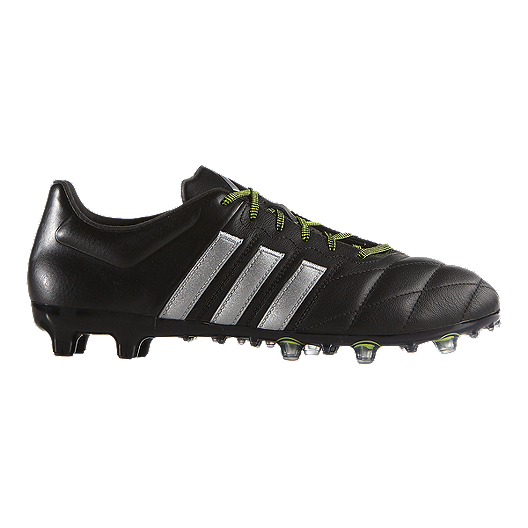86a675d51885 adidas Men's Ace 15.2 FG Leather Outdoor Soccer Cleats - Black/Silver |  Sport Chek