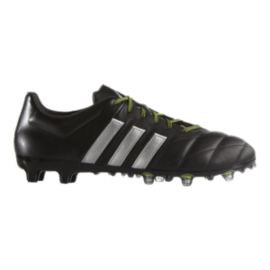 adidas Men's Ace 15.2 FG Leather Outdoor Soccer Cleats - Black/Silver