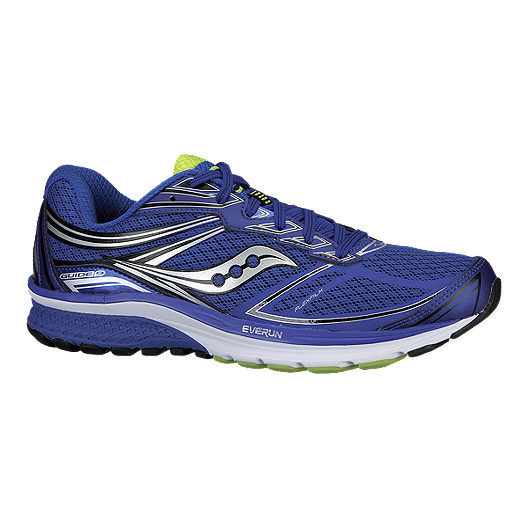 8658ed06b252 Saucony Men s Everun Guide 9 Running Shoes - Blue Silver