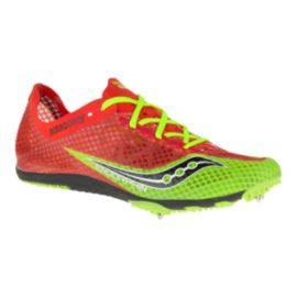 Saucony Men's Endorphin Track & Field Shoes - Red/Lime Green/Black
