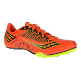 Saucony Men's SpitFire Track & Field Running Shoes - Orange/Black/Yellow