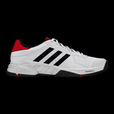 adidas uomini barricata corte scarpe da tennis bianchi / nero / rosso sport chek