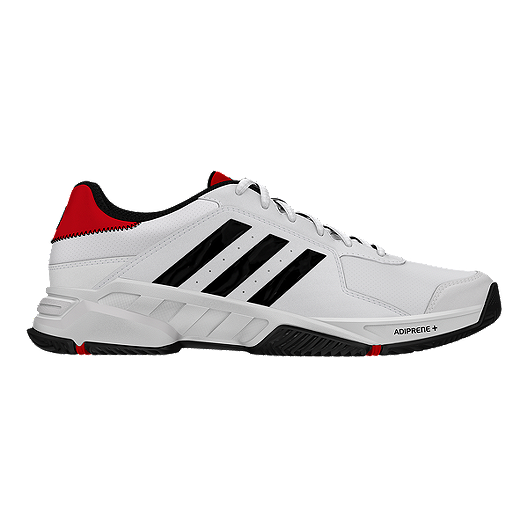 buy popular fc584 e333e adidas Men s Barricade Court Tennis Shoes - White Black Red   Sport Chek