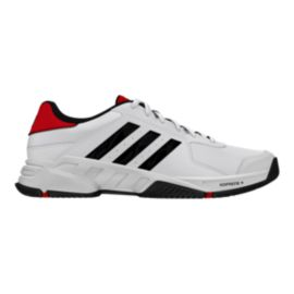 adidas Men's Barricade Court Tennis Shoes - White/Black/Red