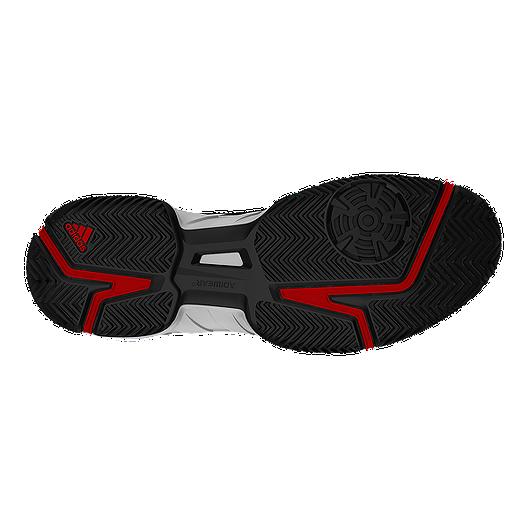 e2c581799 adidas Men s Barricade Court Tennis Shoes - White Black Red