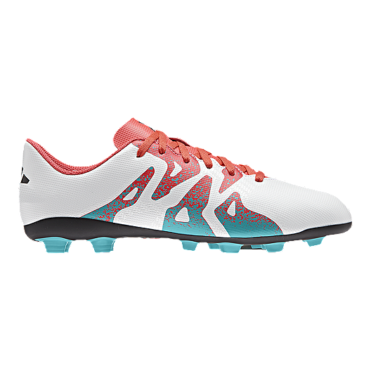 f11732857 adidas Women s X 15.4 FG Outdoor Soccer Cleats - White Blue Pink ...