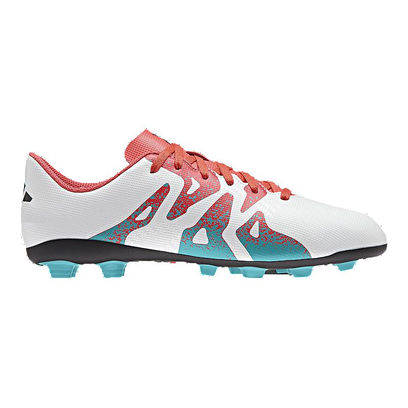 f3263ea6b adidas Women's X 15.4 FG Outdoor Soccer Cleats - White/Blue/Pink   Sport  Chek