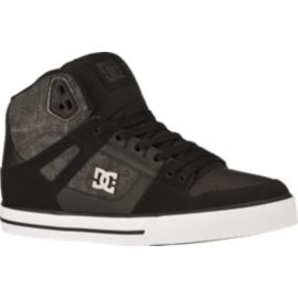 DC Spartan High WC TX SE Men's Skate Shoes - Black/Dark Grey