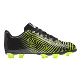 adidas Kids' Taquiero FG Outdoor Soccer Cleats - Black/Lime Green