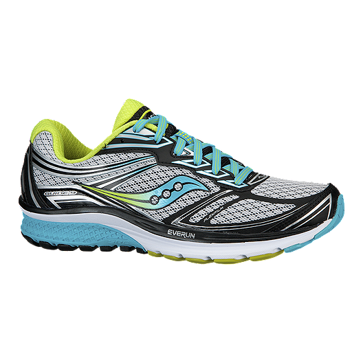 best website a6bac e23ad Saucony Women's Everun Guide 9 Running Shoes - White/Black/Teal