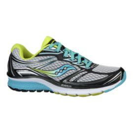 Saucony Women's Everun Guide 9 Running Shoes - White/Black/Teal