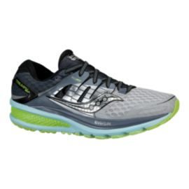 Saucony Women's Triumph ISO 2 Running Shoes - Black/Grey/Yellow