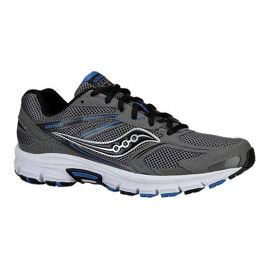 f8790482a2 Saucony Men's Grid Exite 8 Running Shoes - Grey/Black/Blue | Sport Chek