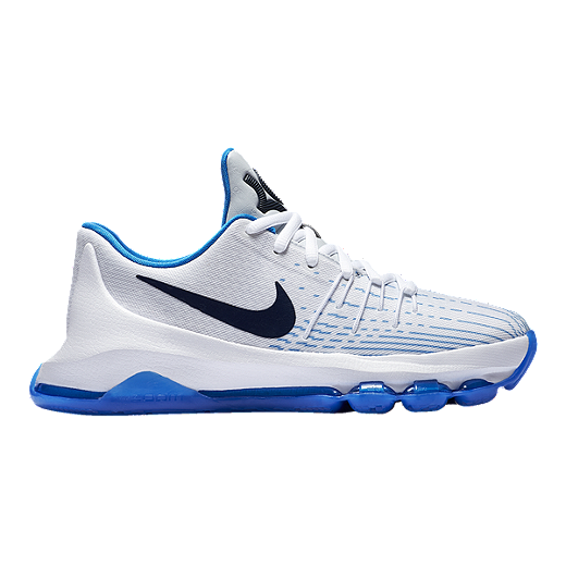 official photos e1377 a0434 inexpensive nike kids kd 8 grade school basketball shoes white navy 00ee3  14923