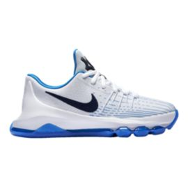Nike Kids' KD 8 Grade School Basketball Shoes - White/Navy
