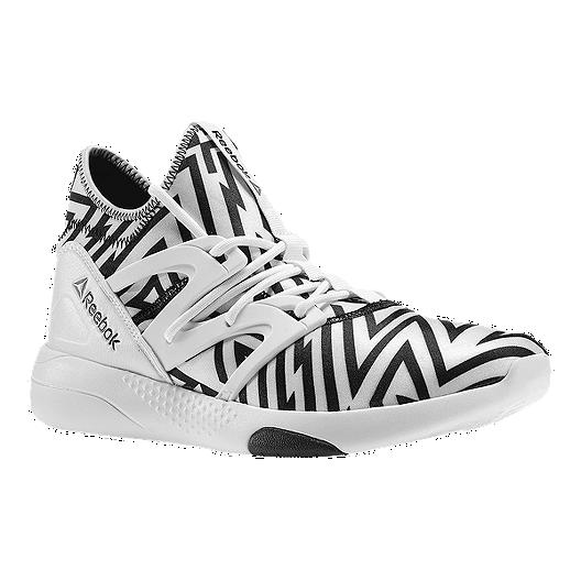 b491a0fcd14c3 Reebok Women s Hayasu Studio Training Shoes - White Black Print ...