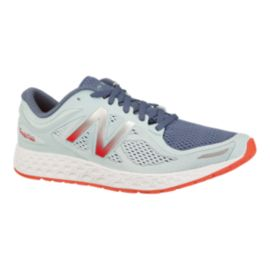 New Balance Women's Fresh Foam Zante v2 Running Shoes - Light Blue/Orange/Grey