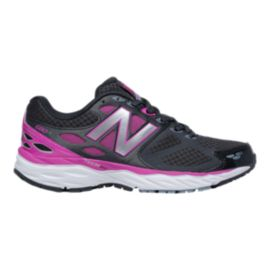 219f5f9da2b New Balance Women s 680v3 D Wide Width Running Shoes - Black Purple ...