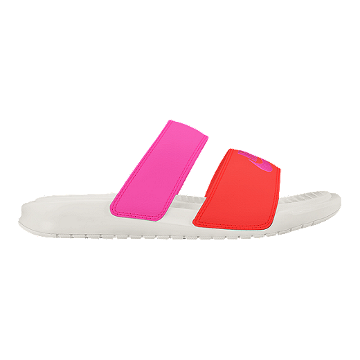 purchase cheap 3e9c5 5cb00 Nike Women s Benassi Duo Ultra Slide Sandals - Pink Orange   Sport Chek