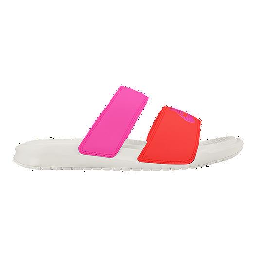 d9dc965251a6d Nike Women's Benassi Duo Ultra Slide Sandals - Pink/Orange | Sport Chek