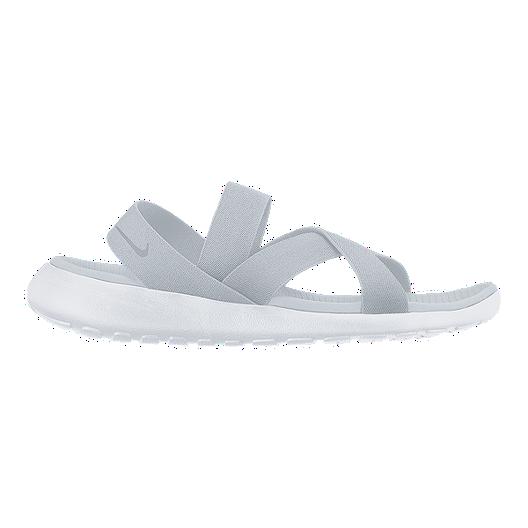 60f3f945fbf5 Nike Women s Roshe One Sandals - Platinum White Grey