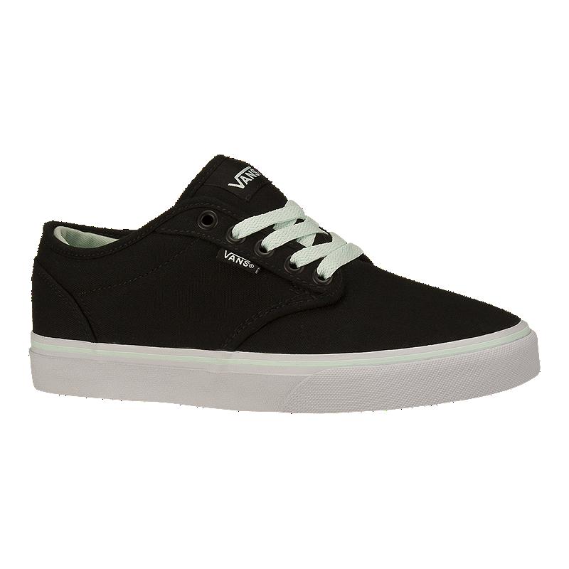 Vans Women s Atwood (Canvas) Skate Shoes - Black Mint  4b1ca71ffe