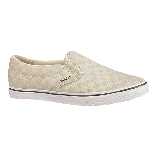 9cdfc3a48195 Vans Women's Asher Low Slip-On Women's Skate Shoes - Grey/White | Sport Chek