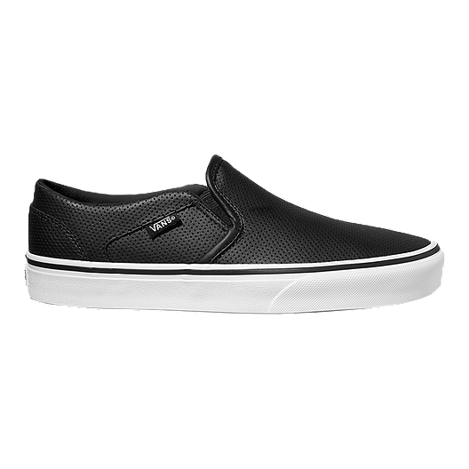 3e459c77e12 Vans Women s Asher Slip-On (Leather) Skate Shoes - Black